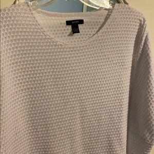 Alfani large light crocheted white top